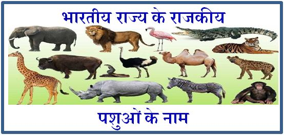 list of indian state animals
