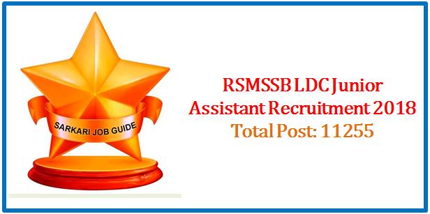 RSMSSB LDC Junior Assistant Recruitment
