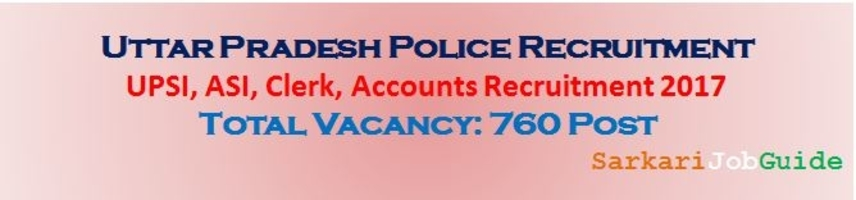 UPPRPB SI ASI Clerk Accounts Recruitment