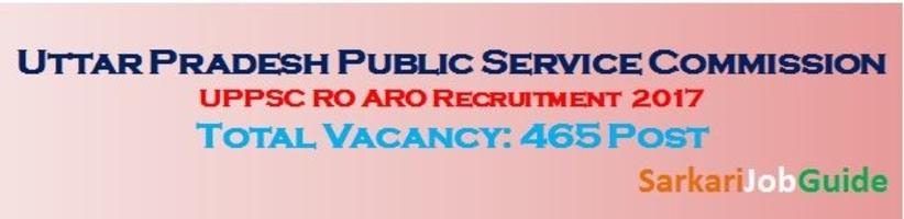 UPPSCRO ARO Recruitment