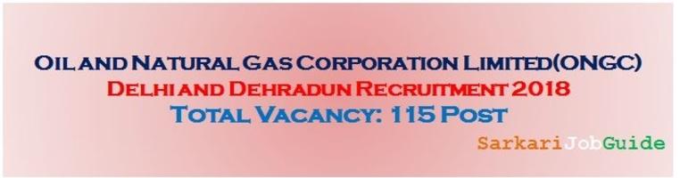 ONGC Delhi and Dehradun Recruitment
