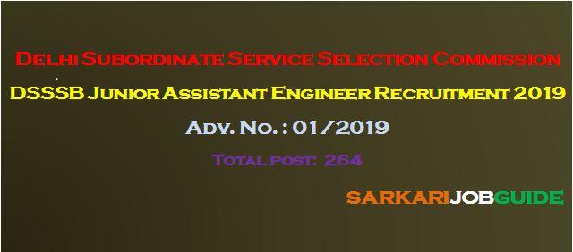DSSSB Junior Assistant Engineer Recruitment 2019