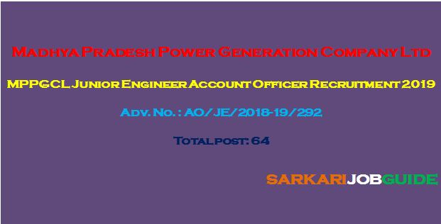 MPPGCLJunior Engineer Account Officer Recruitment