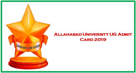 Allahabad University UG Annual Examination 2019