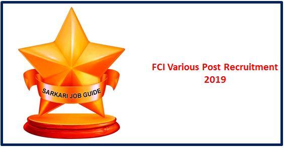 FCIVarious Post Recruitment