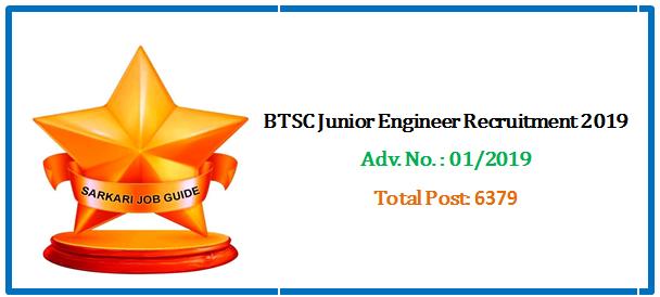 BTSC Junior Engineer Recruitment 2019