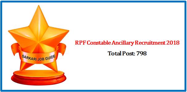RPF Constable Ancillary Recruitment 2018