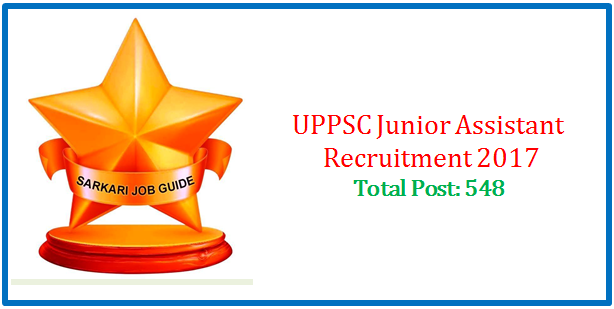 UPSSSC Junior Assistant Direct Recruitment 2017